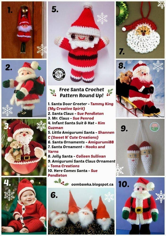 Free Crochet Pattern for a Santa Claus Amigurumi ⋆ Crochet Kingdom | 1000x703