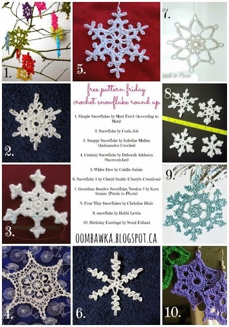 10 Free Snowflake Crochet Patterns