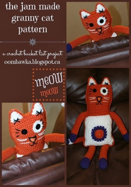 Jam Made Granny Cat Pattern - Crochet Bucket List Project