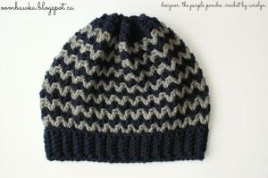 Ric Rac Slouchy – The Purple Poncho – Crochet by Carolyn