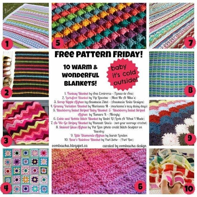 Crochet Blanket Round Up - As seen on oombawkadesigncrochet.com