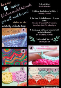 5 Crochet Tutorials You Need to Save for Later. Oombawka Design.