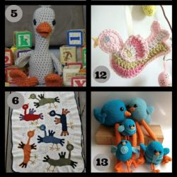 Bird Crochet Pattern Roundup. Free Patterns. Oombawka Design.