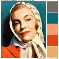 Colour Palette – Woman Wearing Scarf –
