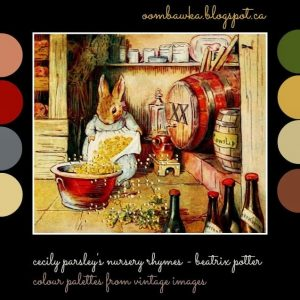 Colour Palette from Vintage Images – Cecily Parsley's Nursery Rhymes – Beatrix Potter