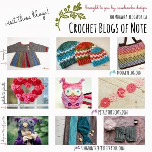 Crochet Blogs of Note: Moogly, Petals to Picots and Slugs on the Refrigerator