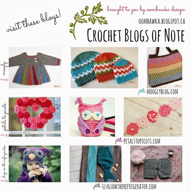 Crochet Blogs of Note as seen on oombawkadesigncrochet.com