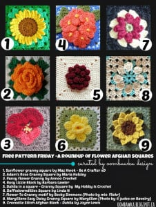Free Pattern Friday – A Roundup of Flower Afghan Squares