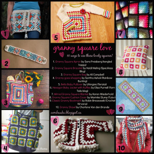 10 Granny Square Projects. Free Pattern Roundup. Oombawka Design Crochet.