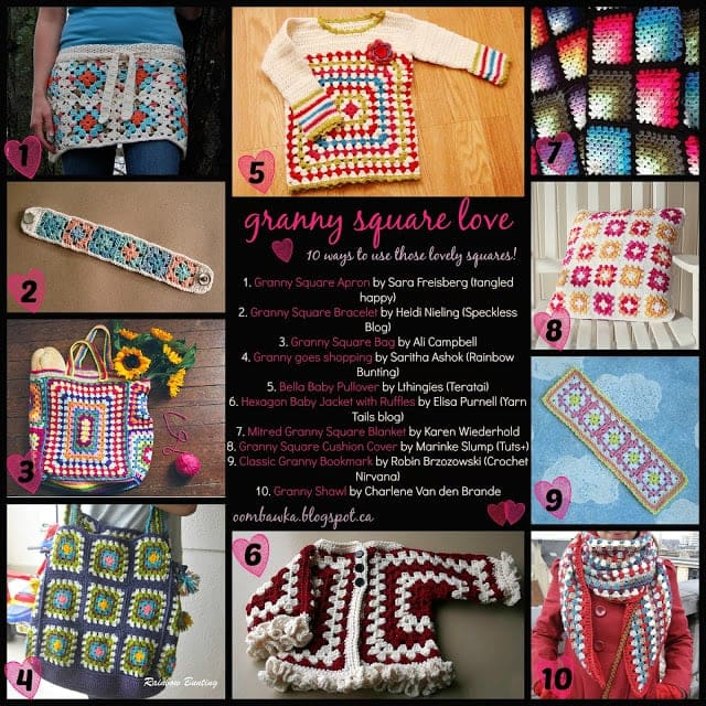 Granny Square Pattern Love - oombawkadesigncrochet.com