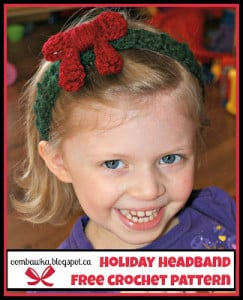Holiday Headband Pattern. Christmas Crochet. Oombawka Design Free Pattern.