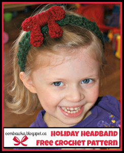 Holiday Headband – Free Crochet Pattern