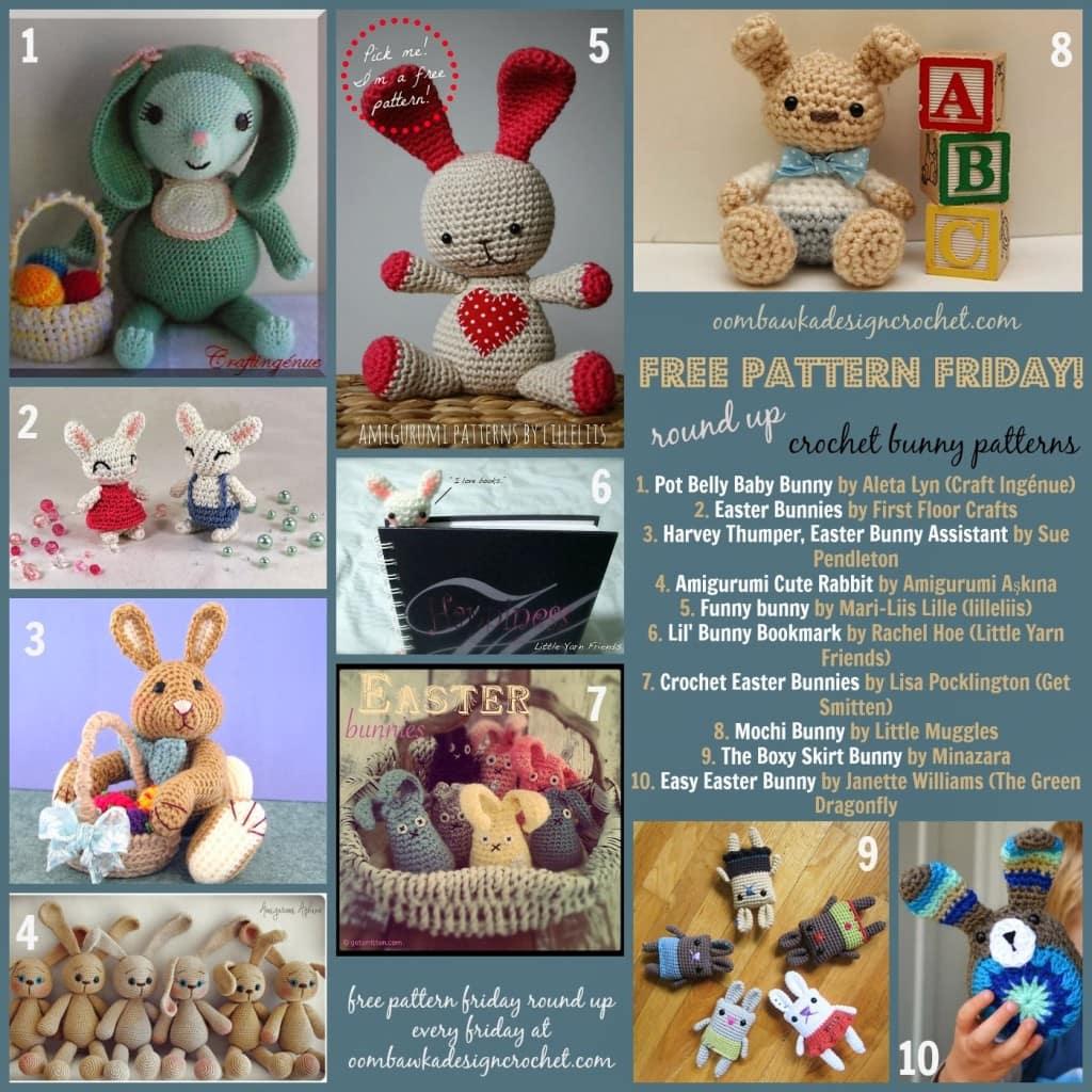 Amigurumi Today Bunny : Free Pattern Friday Round Up - Bunny Amigurumi ? Oombawka ...