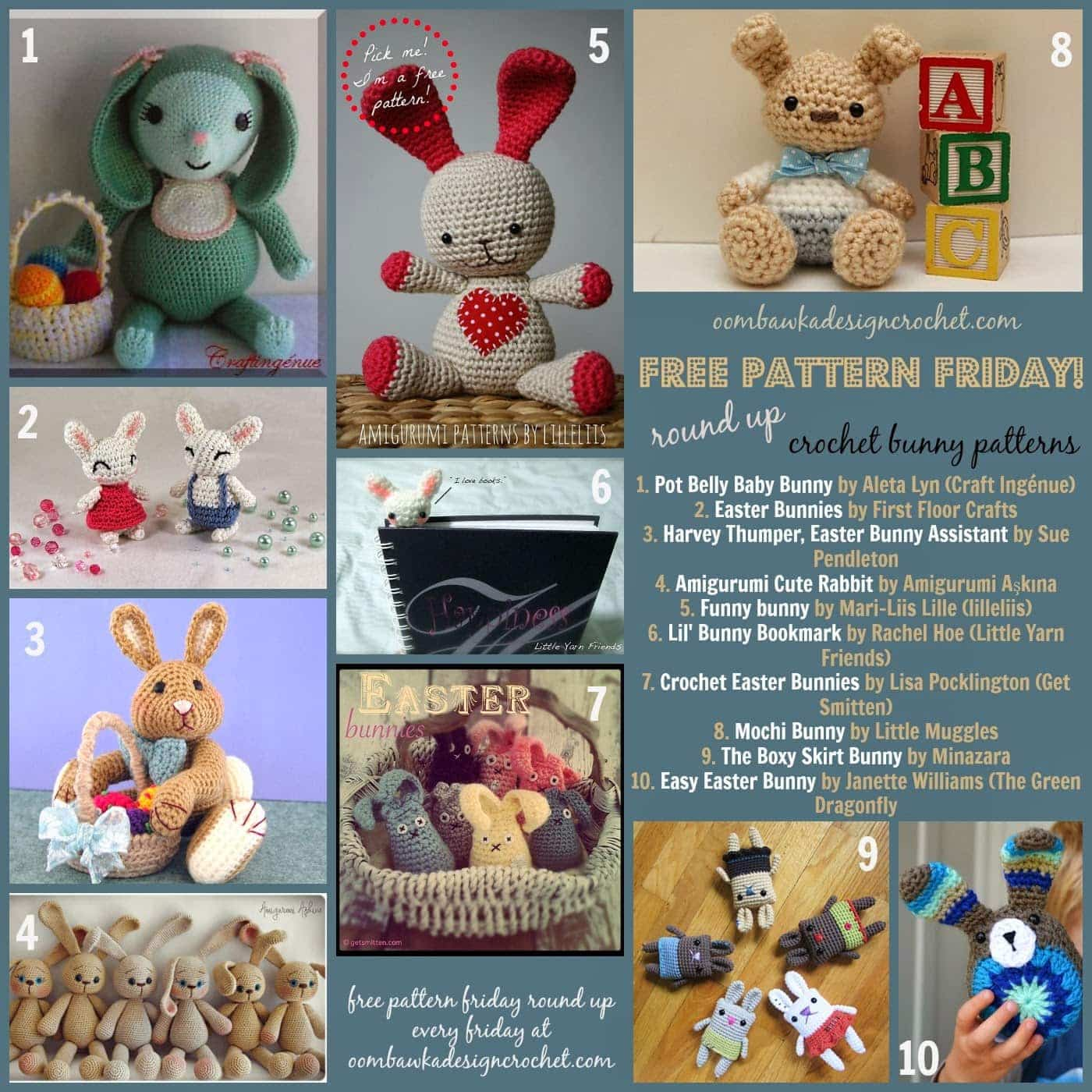 10 Free Bunny Amigurumi Patterns