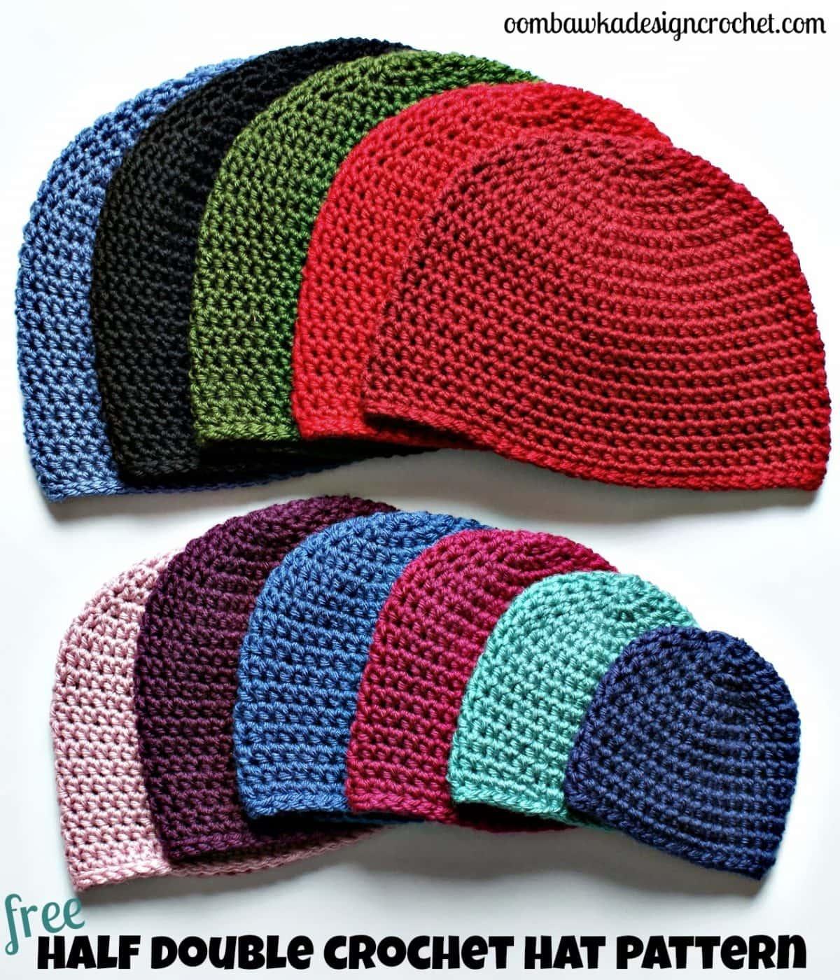 Half Double Crochet Hat Pattern. • Oombawka Design Crochet