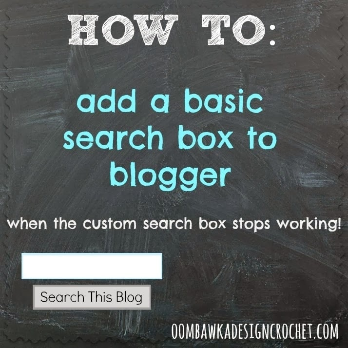 Simple Search Box How To - as seen on oombawkadesigncrochet.com
