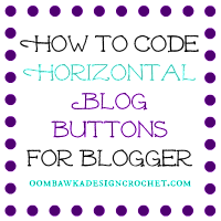 How to Code Horizontal Buttons for Blogger