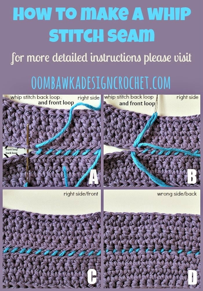 Crochet Whip Stitch : ... To Join Crochet with a Whip Stitch Seam ? Oombawka Design Crochet