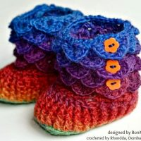 Crocodile Stitch Booties – Bonita Patterns – A Crochet Bucket List Project