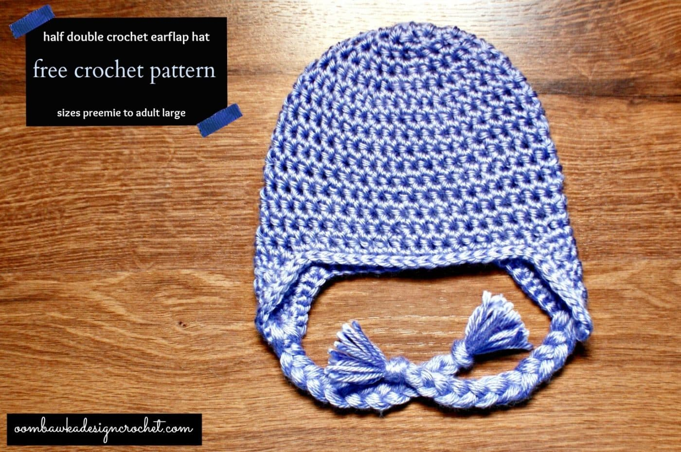 Double Crochet Hat Pattern With Ear Flaps : Earflap Hat - Free Crochet Pattern Oombawka Design Crochet