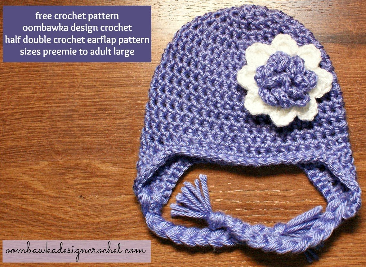 Free Patterns Crochet For Hats : Earflap Hat - Free Crochet Pattern Oombawka Design Crochet