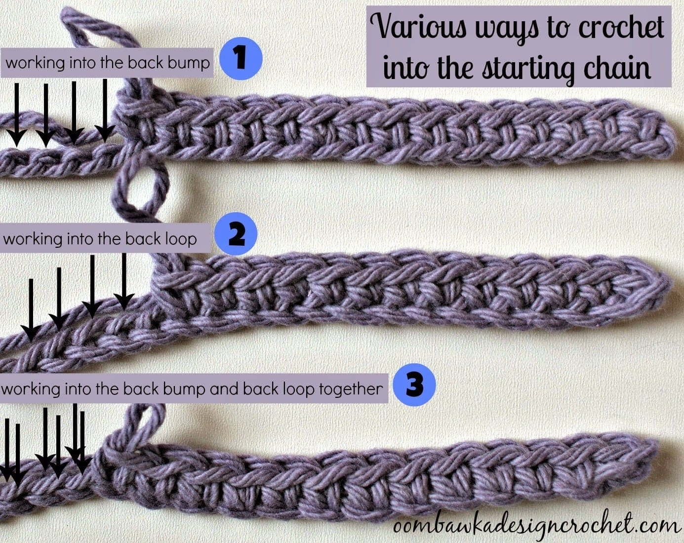 Crocheting Into Chain : ... of a starting chain that mirrors the look of the final row of crochet