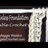 Chainless Foundation (sc, hdc, dc) Videos from Maggie Weldon