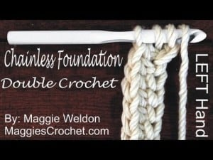 Chainless Foundation Tutorial. Single Crochet. Half Double Crochet and Double Crochet. Oombawka Design Crochet.