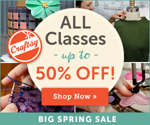 Craftsy – All classes up to 50% off