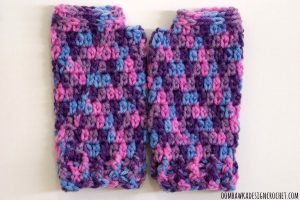 Springtime Wristies Pattern. Fingerless Gloves for Toddlers. Free Pattern Oombawka Design Crochet.