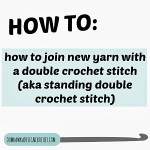 Standing Double Crochet Stitch Tutorial. Oombawka Design.