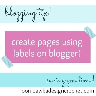 blogging tip create pages using labels