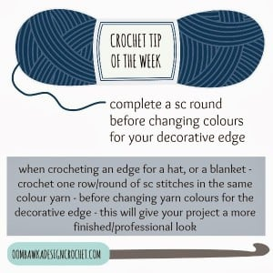 Crochet Tip - How to make a seamless border color change.