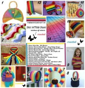 14 Rainbow Crochet Projects – Free Patterns