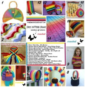14 Rainbow Crochet Projects – Free Patterns