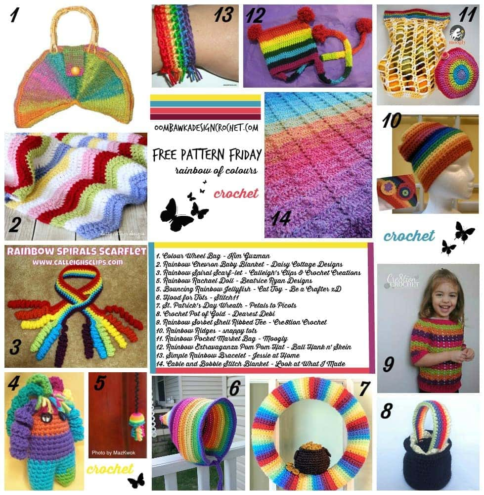 Free Pattern Friday: Rainbow of Color RoundUp