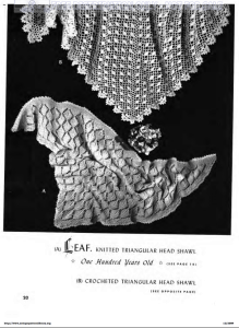 Beehive Crochet Shawls [ c. 1950 ]