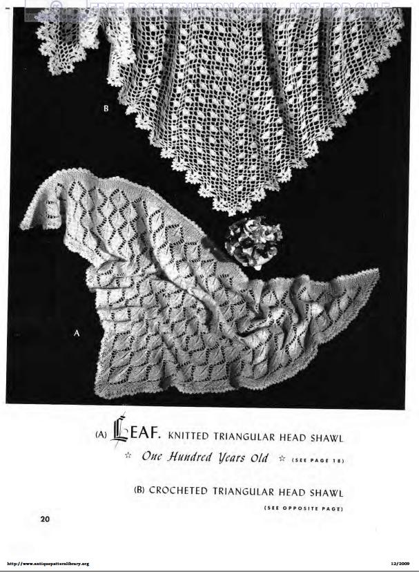 Triangular Head Shawl