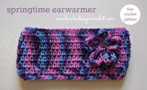Springtime Ear warmer Pattern. Oombawka Design Crochet.