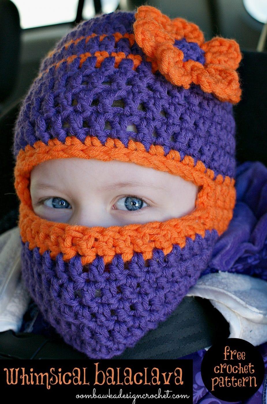 Free Knitting Patterns Kids Balaclava : Whimsical Balaclava Free Crochet Pattern   Oombawka Design ...