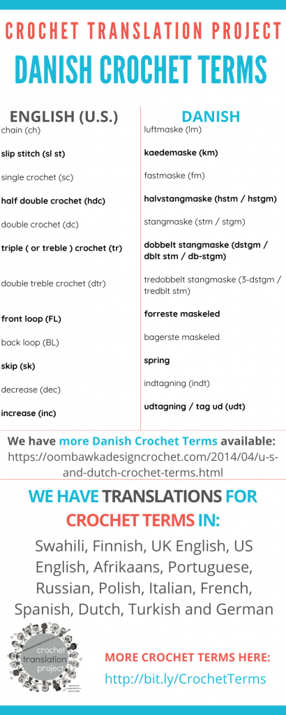 Danish Crochet Terms - Crochet Translation Project