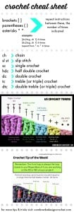 crochet cheat sheet oombawkadesign