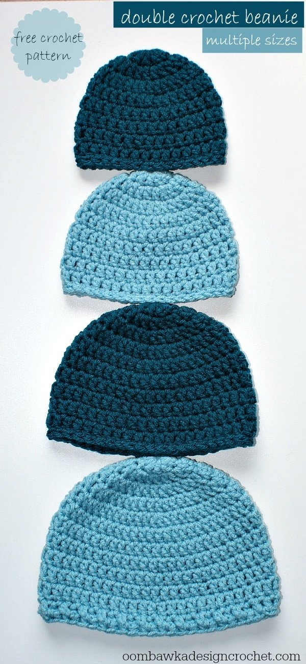 Crochet Hat Sizes : Simple Double Crochet Hat ? Oombawka Design Crochet