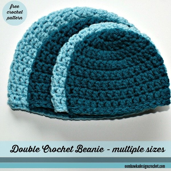Free Patterns Crochet Beanies : Simple Double Crochet Hat Oombawka Design Crochet