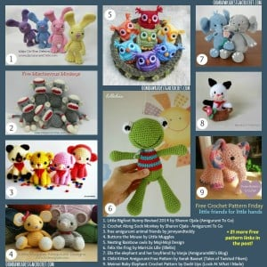 30 Free Crochet Toy Patterns. Pattern Roundup. Oombawka Design Crochet.