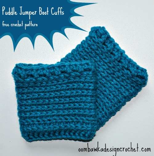 puddle jumper boot cuffs free pattern