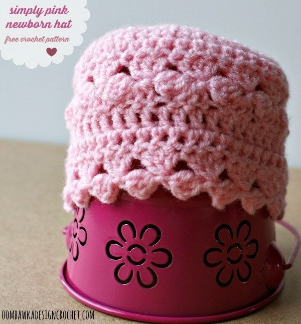 simply pink newborn hat free cp