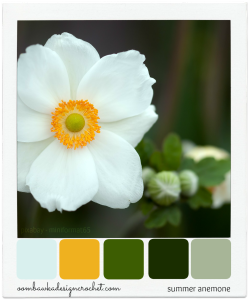 Summer Anemone Colour Palette