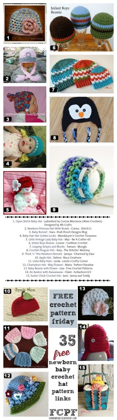 35 free crochet patterns baby