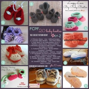 20 Free Crochet Patterns for Baby Booties